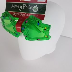 Light Up Christmas Tree Sunglasses Glasses Holiday